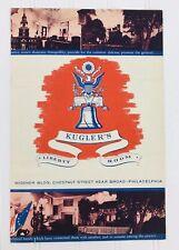 Vintage Kugler's Restaurant Banquet Department Menu Postcards Philadelphia Pa