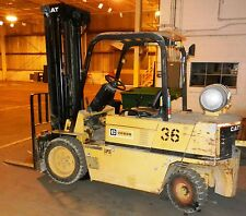 Caterpillar ForkLift VC60D 3 Stage High Mast 3500 lbs  3658 Hours WVS 36