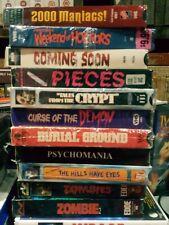 VARIOUS HORROR VHS - NTSC/EX RENTAL/PRE CERT
