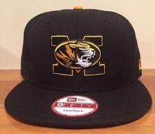 Missouri Tigers Black New Era NCAA Core 9FIFTY Snapback Cap Hat
