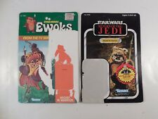 VINTAGE STAR WARS EWOKS & RETURN OF THE JEDI WICKET W WARRICK BACKER CARD SET
