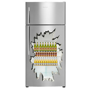 Beer Fridge Sticker 3D Decal Childrens Wall Stickers Bedroom Wall Art 4 Sizes