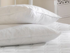 One Goose Feather & Down Anti Allergy Pillow Norfolk Feather 100% Cotton Cover