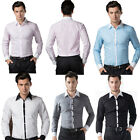 2015 ❤ Mens White Collar Formal Business Tuxedo Formal Dress Shirts Causal Shirt