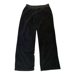 The North Face Women's Size L Black Fuzzy Fleece Warm Pull On Sweatpants