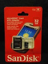 Sandisk MicroSDHC 32GB Card with Adapter SDSDQ-032G-A46AC