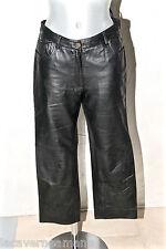 joli pantalon cuir de veau noir femme REDSKINS taille 38 EXCELLENT ÉTAT