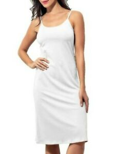 Doreanse Ladies Modal Undergarment Knee Length Petticoat White DA11129