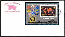 Jersey - 1984 Postal administration conference - Mi. Bl. 3 clean FDC
