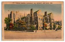 Mid-1900s Sterling Memorial Quadrangle, Yale University, New Haven, CT Postcard