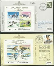 More details for great britain 1987 raf covers x 7 some signed nice group bin price gb£15.00