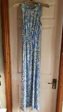 H & M Long Taller Fit Dress Size UK 8 Light  Blue Floral Excellent Conditiion