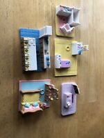 Vintage Lewis Galoob My Pretty Doll House Polly Pocket Style Furniture Pieces