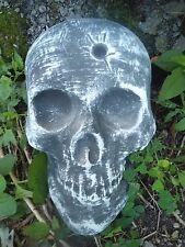 "skull with bullet hole plastic mold plaster cement mould 8"" x 5.5"" x 2"""