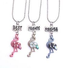 3PCS Kids Best Friends Forever Necklace Flamingo Pendants Necklaces For Children