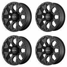 """4x Helo 17x9 HE878 Wheels Satin Black 8x6.5 8x165.1 PCD -12mm Offset 4.53""""BS"""