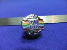 vtg badge cym christian religious ? rainbow globe fraternal fraternity youth