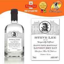 PERSONALISED LONDON DRY GIN BOTTLE LABEL BIRTHDAY ALL OCCASIONS GIFT