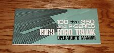 1969 Ford Truck Owners Operators Manual 69 F-100 - F-350 and P-Series Pickup