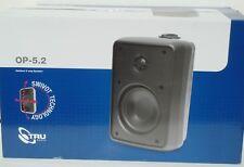2 *NIB* TRUAUDIO OP-5.2 Outdoor/Weather-Proof 2-Way 5.25 inch Speakers (Black)