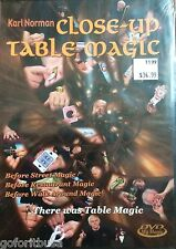 TABLE MAGIC, CLOSE-UP TABLE MAGIC By KARL NORMAN DVD INSTRUCTIONAL