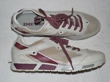 DIESEL Lawndale Beige Leather Sneakers Sports Comfort Shoes 13 M - NEW