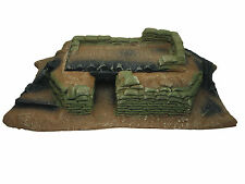 WWI or WWII LOG & SANDBAG FORWARD BUNKER 2 PIECE 54mm ATHERTON SCENICS (#9801)