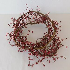 5 Ft Christmas Red Pip Berry Garland Artificial Burgundy Rope Vine Crafts Wreath