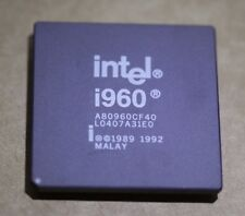 Intel i960 Vintage Rare Processor Ceramic CPU A80960CF40 RISC PGA Gold Pins
