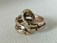 Rare Extremely Ancient Viking Snake Ring Bronze Authentic Artifact Very Stunning