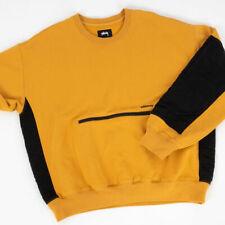 Stussy Women's SIMONE Pocket Fleece Crewneck Size Large Gold