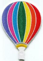 Hot air balloon retro up up and away embroidered applique iron-on patch S-1476