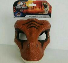 New ListingJurassic World Legacy Collection Velociraptor Mask Jw Dinosaur Orange Face Mask