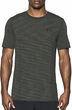 Under Armour Seamless Mens Training Top Green Short Sleeve T-Shirt Gym Running
