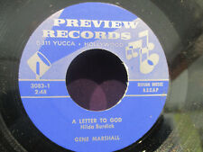Gene Marshall 45 Possiblities/A Letter To God (Preview REcords)