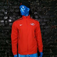 Spartak Moscow Football Training Jacket With Zipped Red Nike Mens Size L