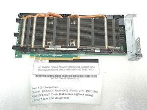HP NVIDIA TESLA A0J99A M2090 6GB GDDR5 GPU Damaged heatsink 900-21030-0340-100 6