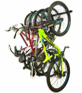 Bike Rack - Wall Rack 5 or 6 Bicycles