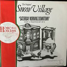 Dept 56 Snow Village® Saturday Morning Downtown Set of 8 Brand New