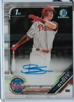2019 bowman chrome draft 1st bowman auto Bryson Stott Philadelphia phillies