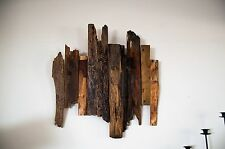 Reclaimed wood wall art sculpture