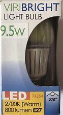 LED Light Bulb Viribright 9.5w Bulbs Edison Screw E27 2700K 800 Lumen