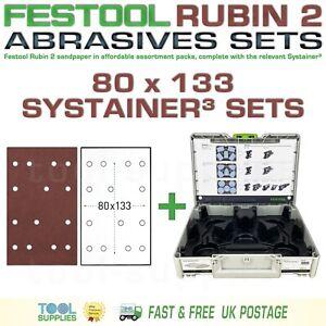 Festool RUBIN 2 80 x 133 Sandpaper Systainer³ Set, RTS C 400 LS 130 HSK A 80x130