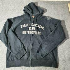 Vintage Harley Davidson Zip Up Hoodie Sweatshirt Womens  XLarge American Bike XL