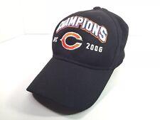 a2ebfed6a Chicago Bears 2006 NFC Champions Black Hat Cap NFL Reebok Super Bowl XLI  OSFA