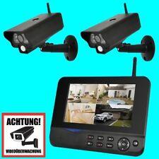 COMAG Funk Videoüberwachung Überwachungssystem Funküberwachung 2 Kamera Set