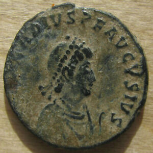 Arcadius VIRTVS EXERCITI AE-2 from Constantinopolis - Beautiful Sand Patina