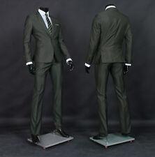 0d9dff6e5bfb [JS076] JEJE Men's Suits Slim Fit Solid Gray Khaki One Button Jacket Pants  38R
