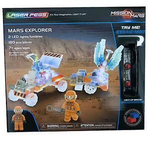 Mars Explorer 180 Piece 2 LED Light Up Block Space Rover Construction Set 18001