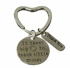 Teacher Keychain, Teacher Appreciation Gift, Teach Jewelry for Women
